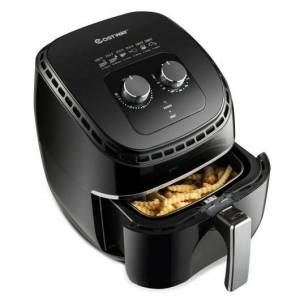 Costway 3.5 QT Electric 1300W Hot Air Fryer with Timer & Temperature Control