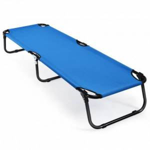 Costway Folding Camping Bed Outdoor Portable Military Cot Sleeping Hiking