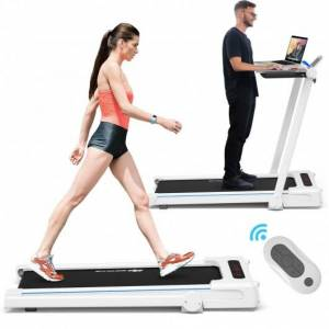 Costway 2.25HP Folding Treadmill Running Machine with Table Speaker Remote