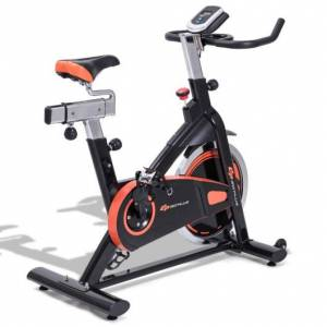 Costway Indoor Professional Stationary Cardio Fitness Exercise Bike with Flywheel and LCD Display
