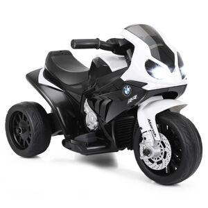 Costway 6V Kids 3 Wheels Riding BMW Licensed Electric Motorcycle-Black