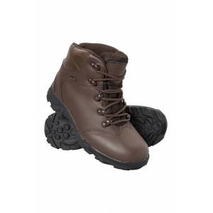 Mountain Warehouse Canyon Kids Waterproof Boot - Brown  - Size: 6