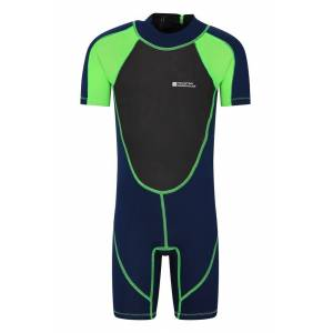Mountain Warehouse Junior Shorty Wetsuit - Green  - Size: 3T-4T