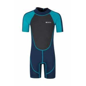 Mountain Warehouse Junior Shorty Wetsuit - Teal  - Size: 3T-4T