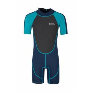 Mountain Warehouse Junior Shorty Wetsuit - Teal  - Size: 6X-8