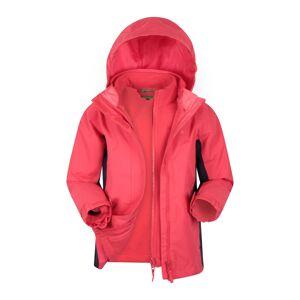 Mountain Warehouse Lightning 3 in 1 Kids Waterproof Jacket - Pink  - Size: 11-12