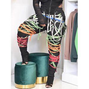 lovelywholesale Lovely Street Print Multicolor Pants  - Multi - Size: 2X-Large