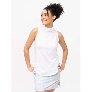 tasc Performance Swing Mock Neck Tank for Women in White.Size L