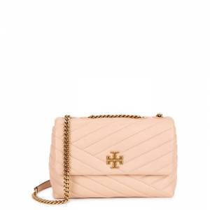 Tory Burch Kira Blush Quilted Leather Shoulder Bag  - Beige - Size: One Size