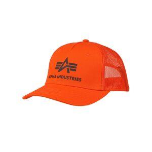 Alpha Industries Basic Trucker Cap Flame Orange  - 417 Flame Orange - Size: One Size