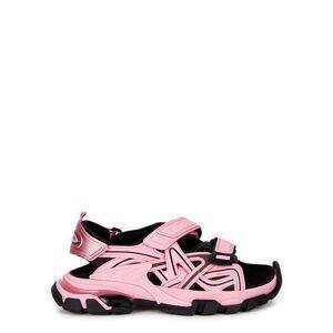 Balenciaga Track Pink Panelled Neoprene Sandals  - Light Pink - Size: 5