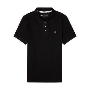 Moose Knuckles Black Piqué Cotton Polo Shirt  - Black - Size: Small