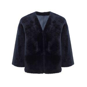 Gushlow & Cole Shearling Cardigan Jacket  - Navy - Size: Large