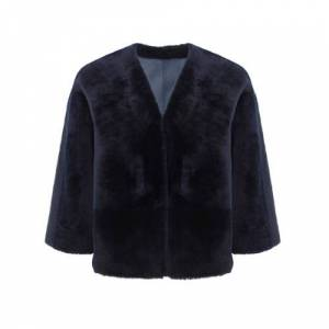 Gushlow & Cole Shearling Cardigan Jacket  - Navy - Size: 2X-Small