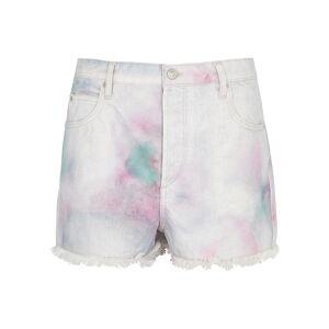 Isabel Marant Étoile Lesiabb Tie-dyed Denim Shorts  - Multicoloured - Size: 6