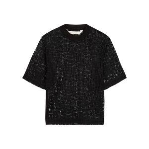 Palm Angels Black Logo-devoré T-shirt  - Black - Size: Medium