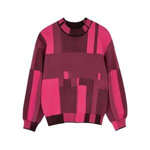 Diane Von Furstenberg Oprah Fuchsia Stretch-knit Jumper  - Pink - Size: Large