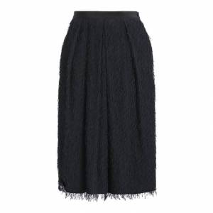 Weekend Max Mara Fil Coupe Skirt  - Black - Size: UK 4