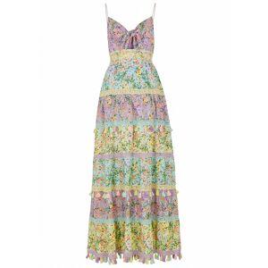 Alice + Olivia Karolina Floral-print Cotton Maxi Dress  - Multicoloured - Size: 10