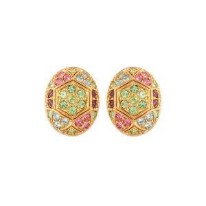 Susan Caplan Vintage 1980s Vintage Dorlan Swarovski Crystal Oval Clip-on Earrings  - One - Size: One Size