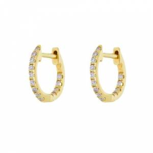 Rosa De La Cruz Huggie Hoops  - Yellow Gold - Size: One Size