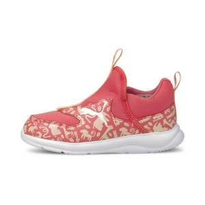 Puma Fun Racer Summer Animals Little Kids' Slip-On Shoes in Sun Kissed Coral, Size 3.5