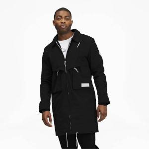Puma Basketball Men's Tunnel Trench Coat in Black, Size M