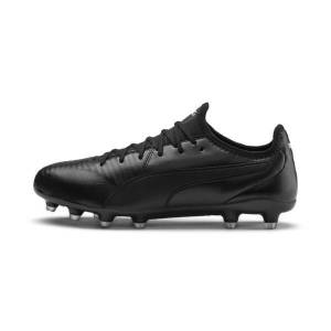 Puma King Pro FG Soccer Cleats Shoes in Black/White, Size 11.5