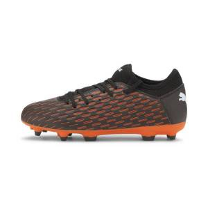 Puma FUTURE 6.4 Kids' FG/AG Soccer Cleats JR Shoes in Black/White/Shocking Orange, Size 12