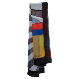 Alexander McQueen Multicolor Geometric Print Silk Scarf