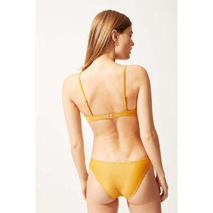 Solid & Striped The Eva Bikini Bottom In Glitter Gold Size XS