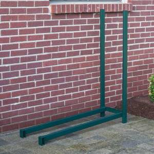 Woodhaven 4' Outdoor Firewood Rack Extension Kit - Green
