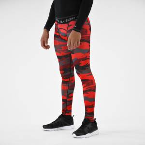 SLEEFS Red Camo Woodland Tights for men