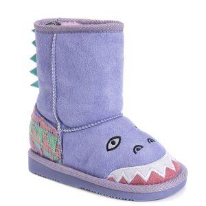 MUK LUKS Cera the Dinosaur Boot Girls' Toddler Purple Boot 10 Toddler M