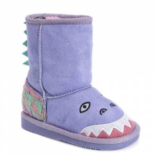 MUK LUKS Cera the Dinosaur Boot Girls' Toddler Purple Boot 11 Toddler M