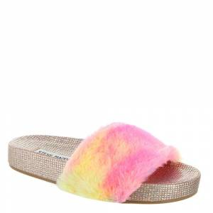 Steve Madden JBrooks Girls' Toddler-Youth Silver Sandal 2 Youth M