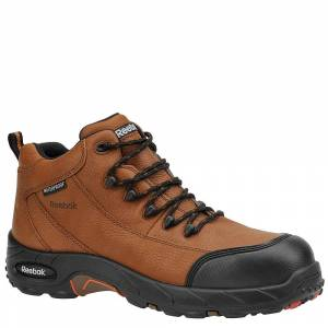 """Reebok Work Men's Composite Toe 4"""" Hiker Brown Boot 9 M"""