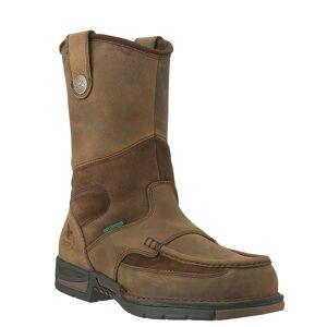 "Georgia Boot Athens 10"" Wellington SteelToe Men's Brown Boot 11 W"