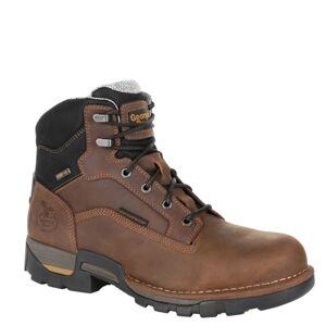 "Georgia Boot Eagle One 6"" Steel Toe WP Men's Brown Boot 14 M"