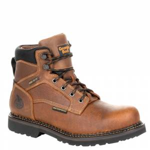 "Georgia Boot RevAMP 6"" Steel Toe WP Men's Brown Boot 8 M"