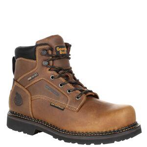 """Georgia Boot RevAMP 6"""" Steel Toe Met Guard WP Men's Brown Boot 11.5 M"""