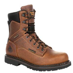 """Georgia Boot RevAMP 8"""" Soft Toe WP Men's Brown Boot 11 W"""