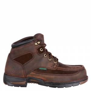 """Georgia Boot Athens 6"""" Safety Toe Men's Brown Boot 12 M"""