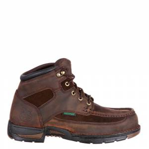 "Georgia Boot Athens 6"" Soft Toe Men's Brown Boot 9.5 W"