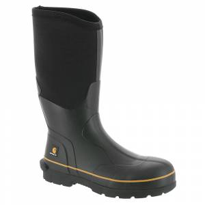 "Carhartt CMV1121 10"" Soft Toe Rubber Boot Men's Black Boot 12 M"