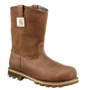 """Carhartt 10"""" Traditional Welt Comp Toe WP Men's Brown Boot 9 M"""