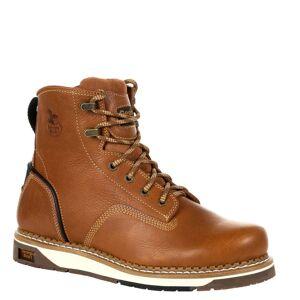 "Georgia Boot Amp LT Wedge 6"" Soft Men's Brown Boot 10 W"