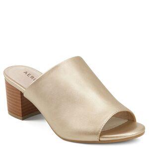 Aerosoles Mid Level Women's Gold Sandal 9.5 W