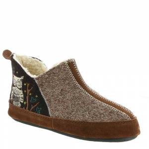 Acorn Forest Bootie Women's Brown Slipper S M