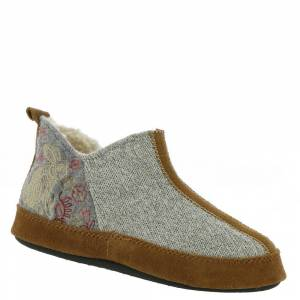 Acorn Forest Bootie Women's Grey Slipper S M